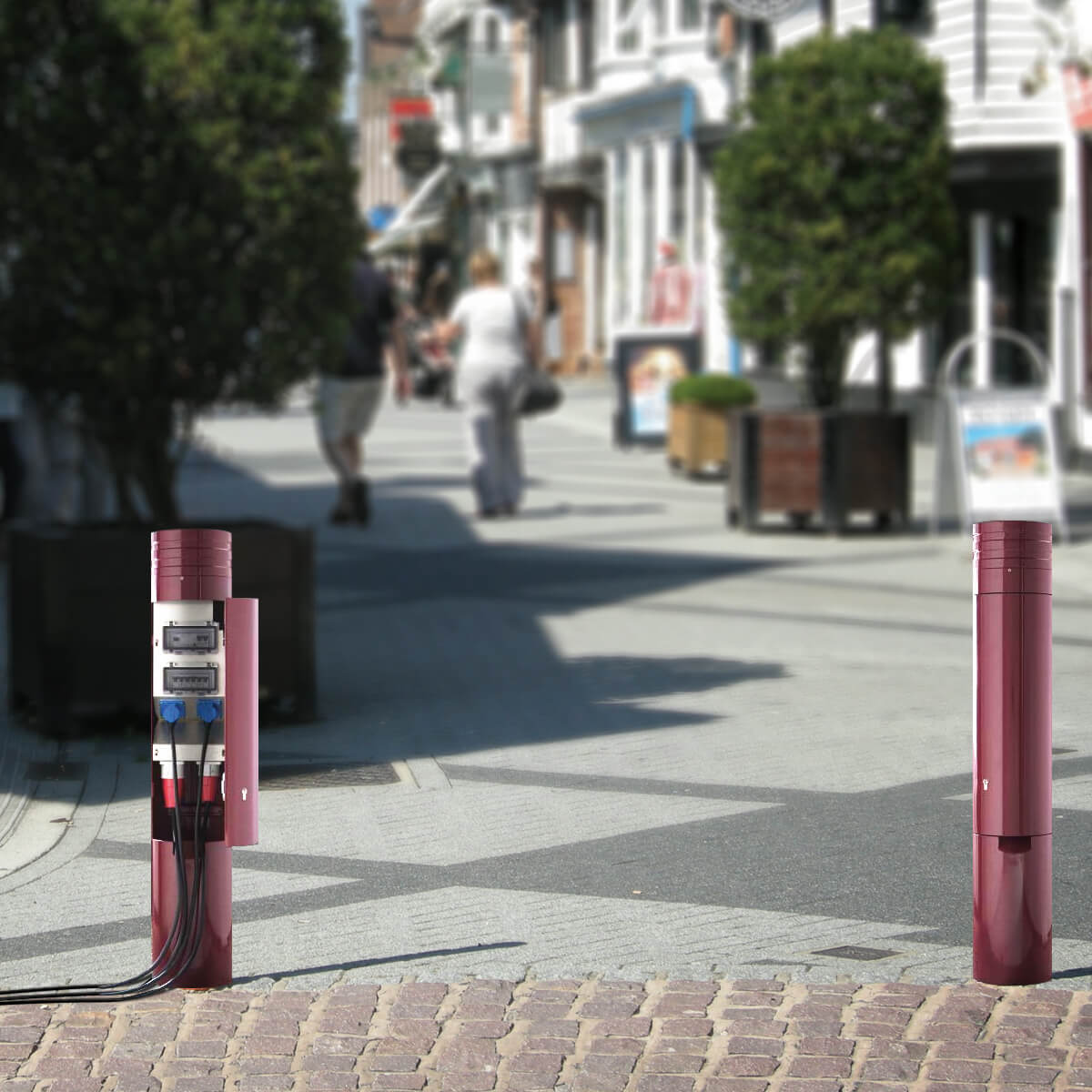 Pop Up Power Supplies Power Bollards